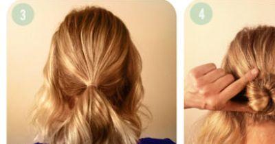 Eine sommerliche Frisur für kurze Haare