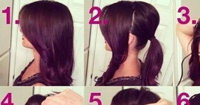 Eine elegante Frisur