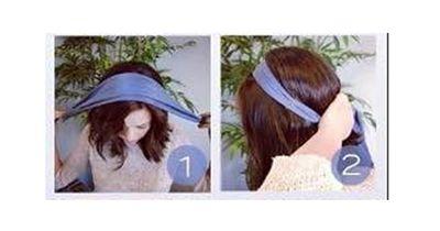 Die Schal-Frisur