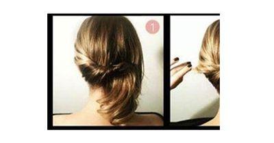 Stilvolle Frisur in nur 1 Minute