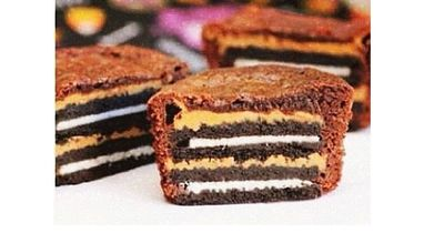 Oreo-Peanut-Butter Brownie-Muffins