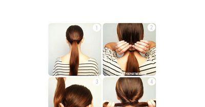 Einfache, elegante Frisur