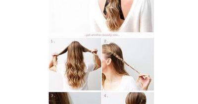 Praktische Frisur für jeden Tag