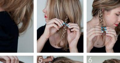 Haarband flechten
