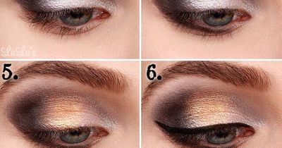 Einfaches Glamour-Makeup