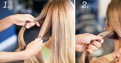 1 Minuten-Frisur für den Frühling