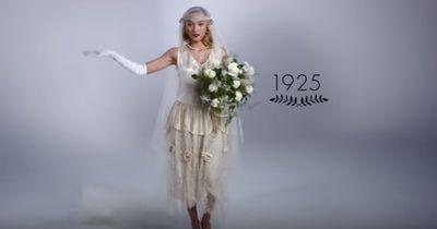 So krass haben sich Hochzeitskleider in den letzten 100 Jahren verändert!