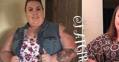 Die Frau nimmt 77 Kilo ab und ist kaum wiederzukennen
