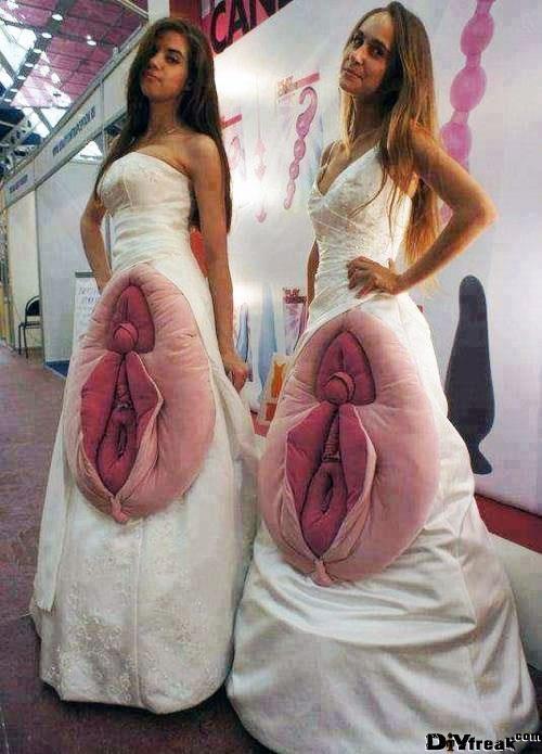 Manche Fail-Kleider sollten verboten werden, wenn man heiratet.