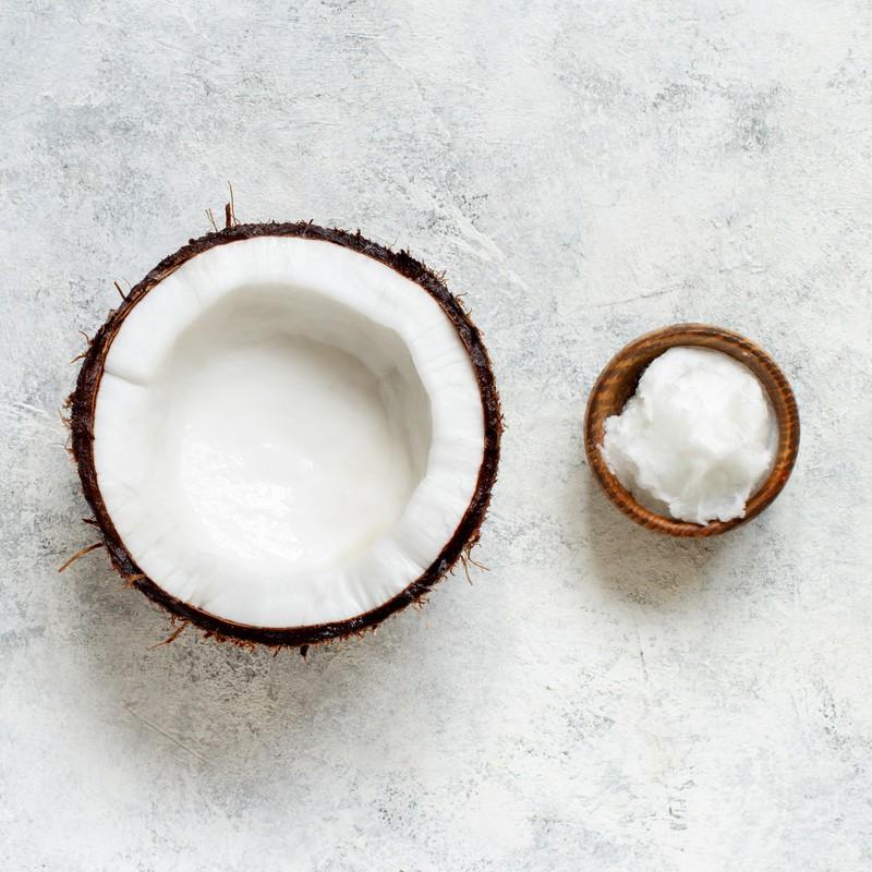 Kokosmus hat wenig Zucker.