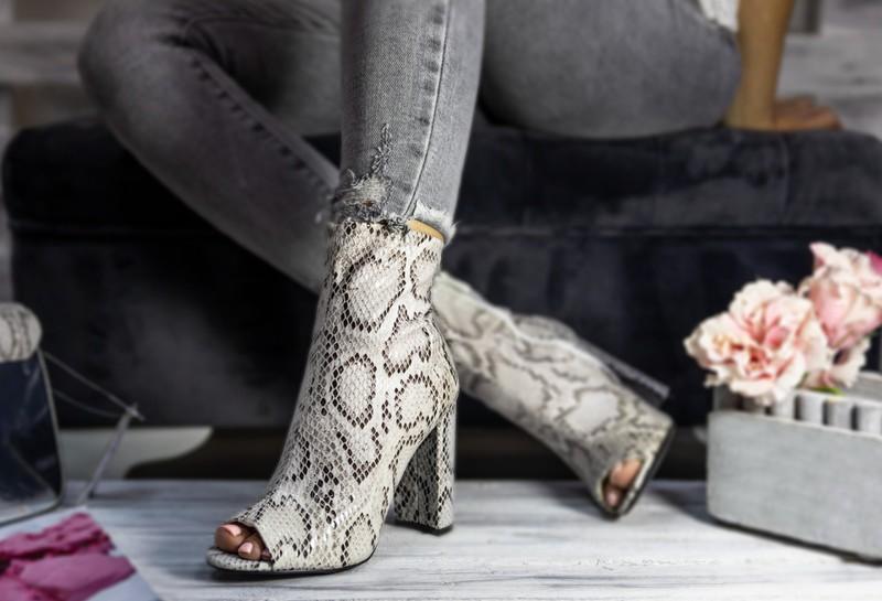 Schuhe Leoprint Animalprint Stiefel