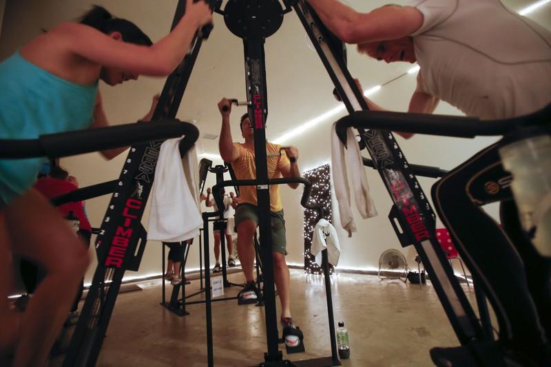 Climber verbrennen beim Workout viele Kalorien