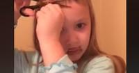 Fünfjährige schneidet Pony: Dieser Haarschnitt ist für starke Nerven!