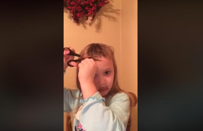 Fünfjährige schneidet Pony: Ein Haarschnitt für starke Nerven!