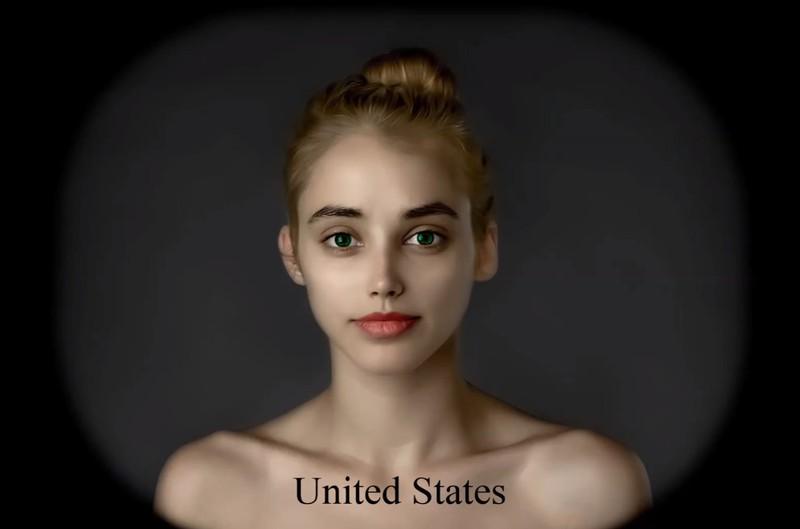 Der amerikanische Künstler verändert Esthers Gesicht so sehr, dass sie kaum wiederzuerkennen ist.