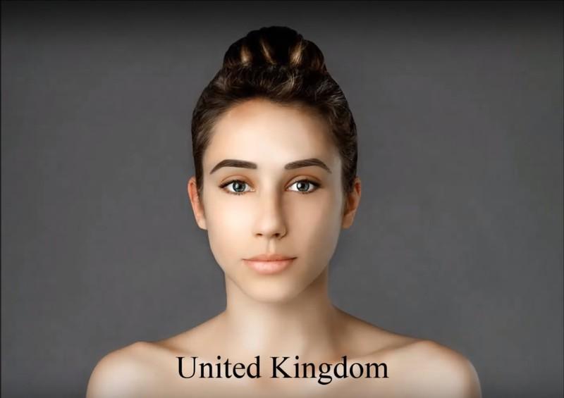 Der britische Künstler verpasste ihr einen ziemlich unnatürlichen Look.