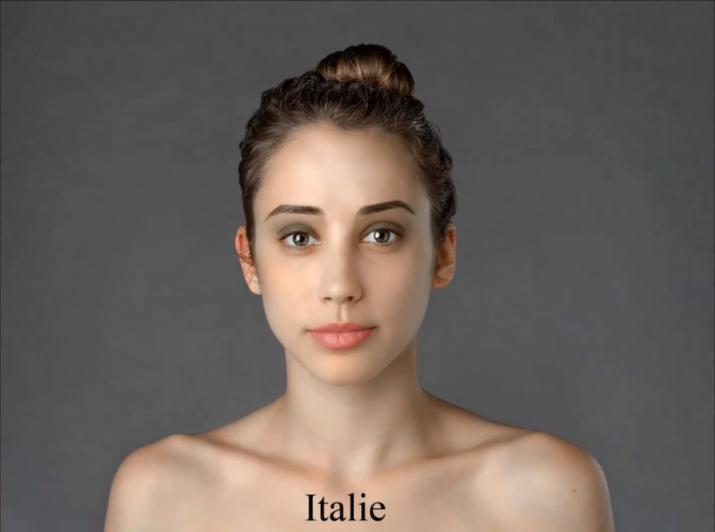 Der italienische Photoshop-Künstler versah Esther mit einem dezenten, grauen Lidschatten.