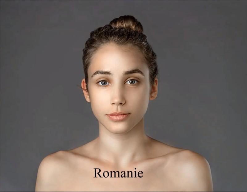 Der rumänische Künstler hat ihre Haut lediglich porenfrei gestaltet.