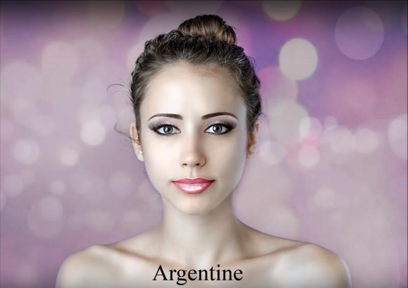 Ein argentinischer Photoshop-Künstler setzt auf starkes Make-up.