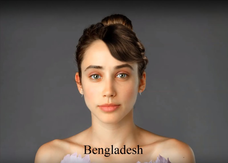 In Bangladesh scheint ein natürlicher Look das Ideal zu sein.