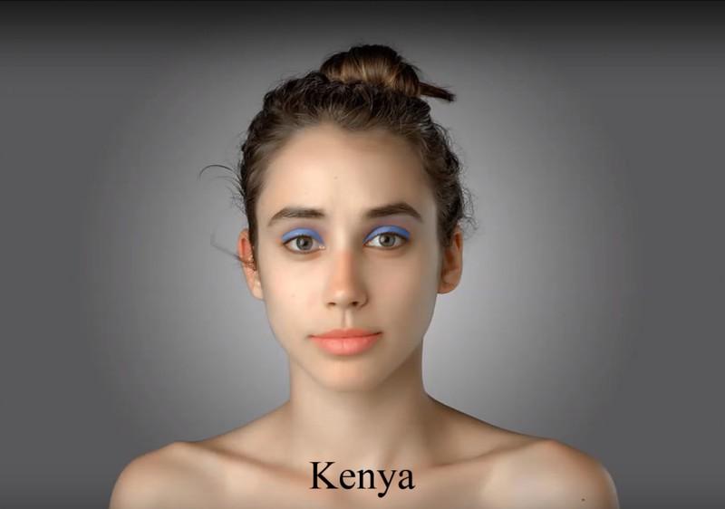 In Kenia müsste die Journalistin knallblauen Lidschatten tragen, um dem Schönheitsideal näher zu kommen.