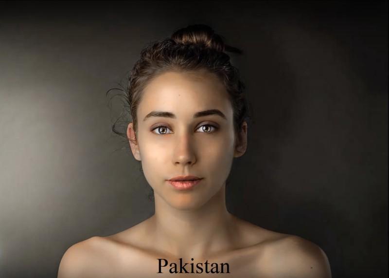 In Pakistan scheint sie goldbraune, strahlende Haut in eine Schönheit zu verwandeln.