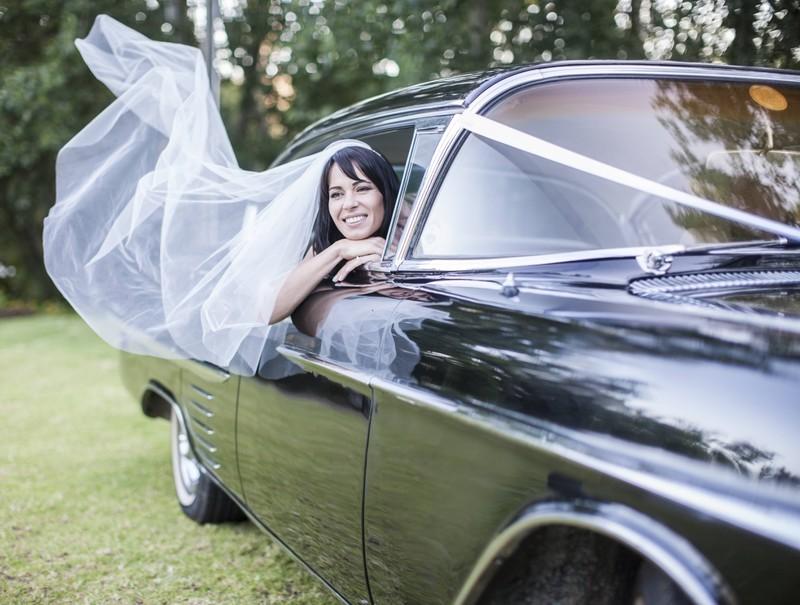 Eine glückliche Braut.