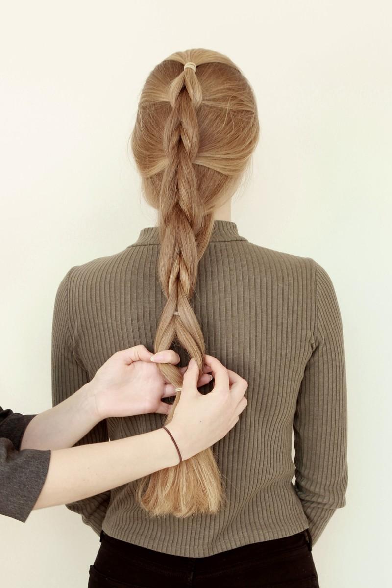 In fünf einfachen Schritten zum Pull Through Braid