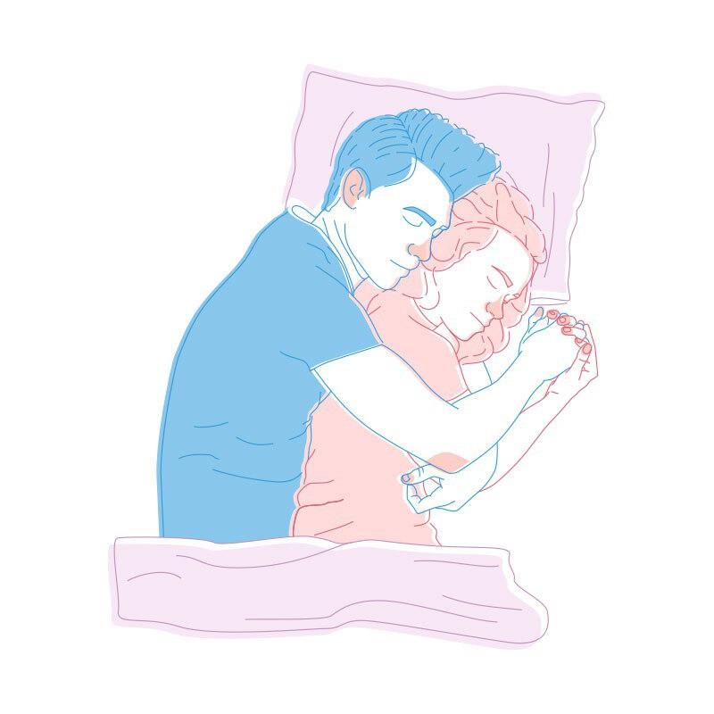 Wenn der Mann die Frau umarmt, dann bedeutet dies, dass er die aktive Rolle in der Beziehung einnimmt