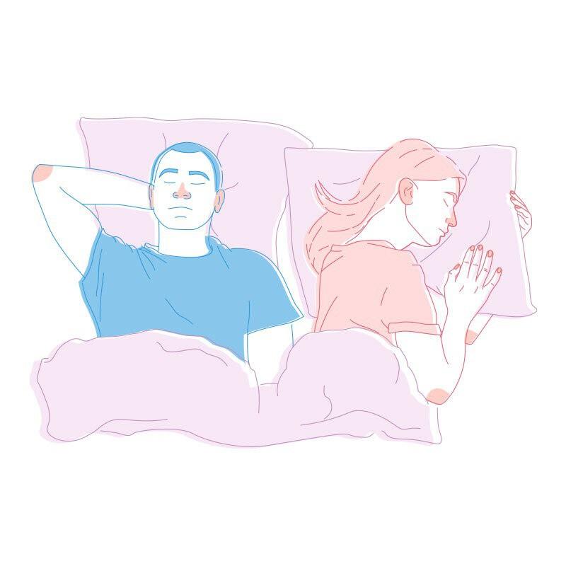 """Wenn man im Bett die """"Platzräuber""""-Position einnimmt, dann ist in der Beziehung nicht mehr so viel in Ordnung"""
