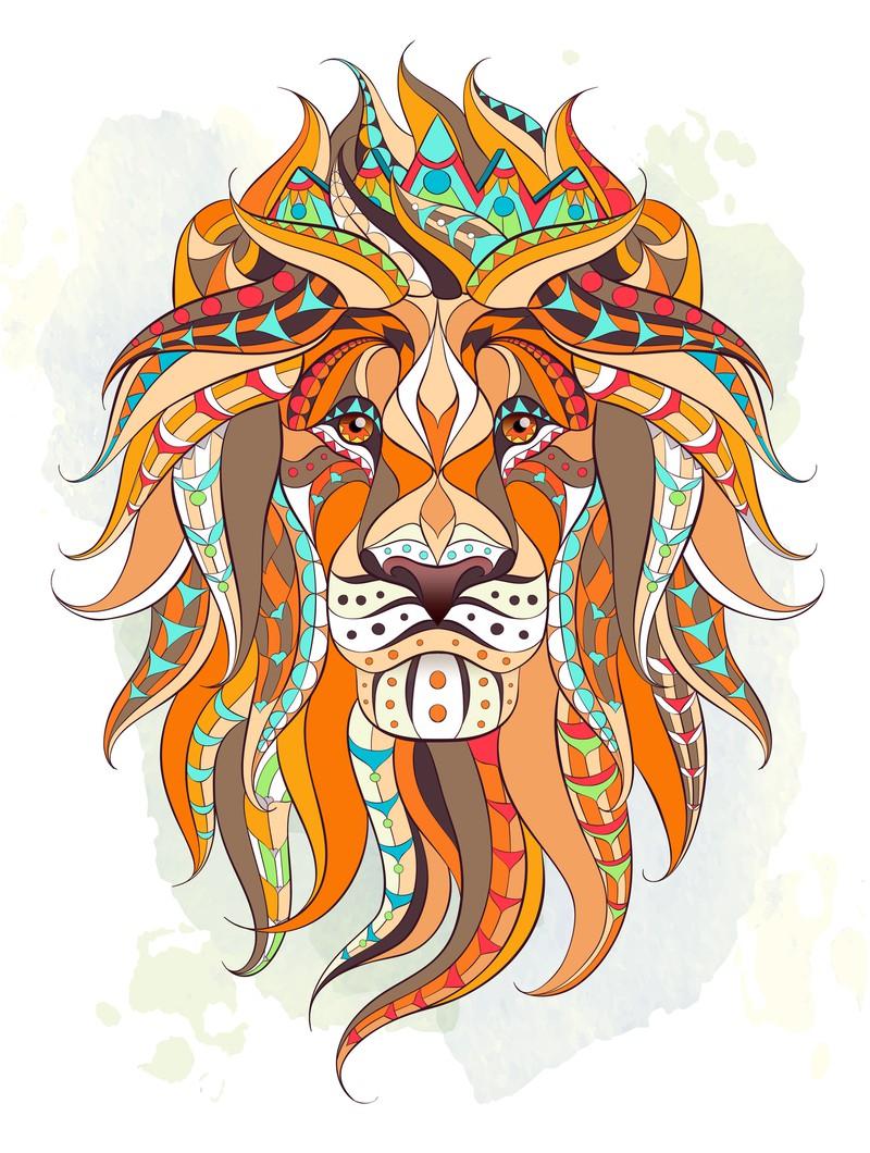 Eine Löew in bunten Farben
