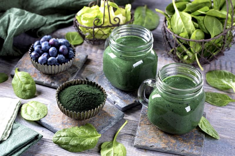 grüner smoothie, gemüse