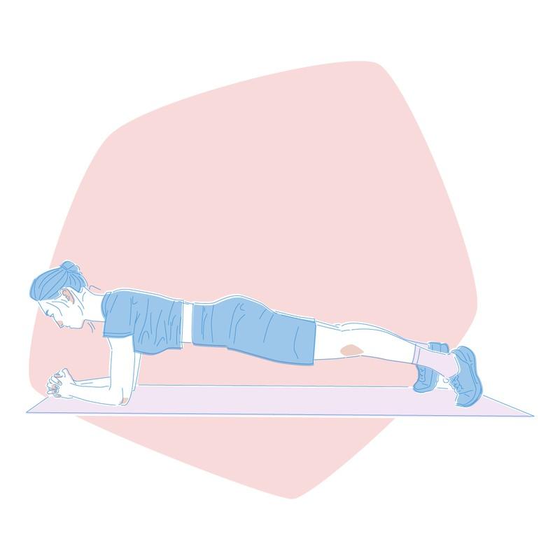 Plank, eine Übung, die den Bauch trainiert und beim Abnehmen hilft
