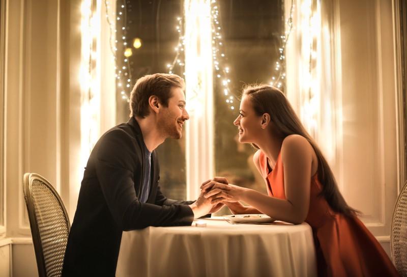 Paar auf romantischem Date