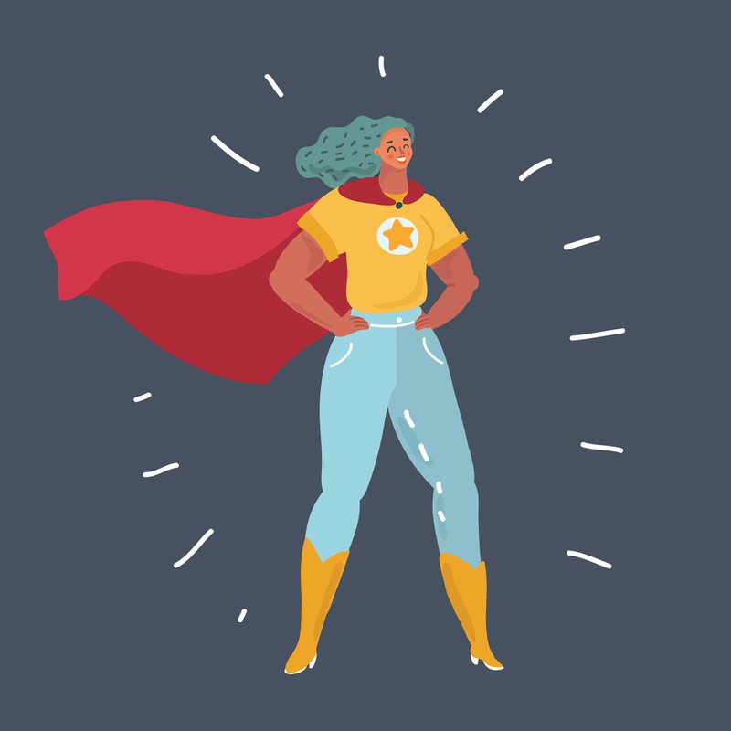 Illustration, Superwoman