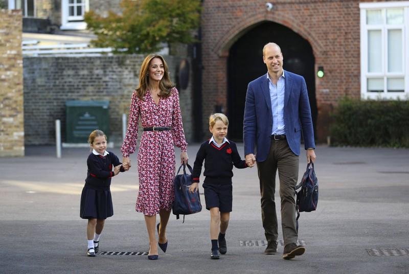 Herzogin Kate mit ihrer Familie