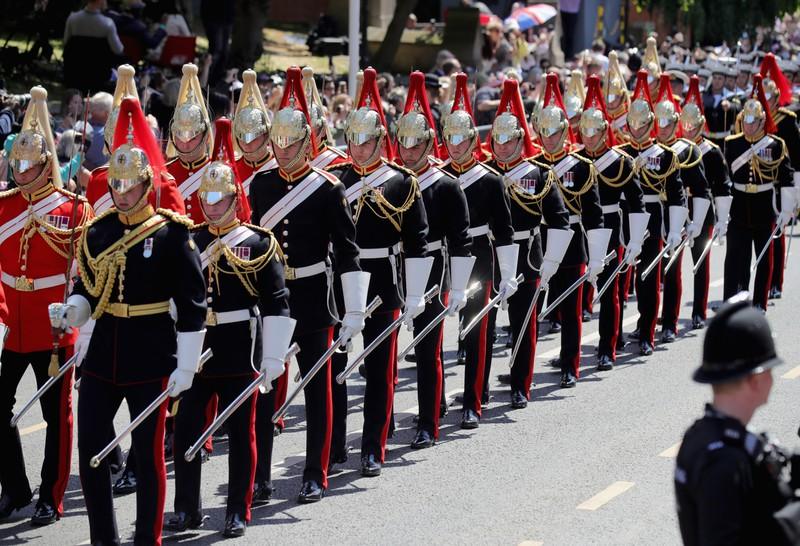 Auf öffentlich zur Schau getragenen Militärparaden des britischen Königshauses werden auch nach Prinz Harrys Rücktritt Uniformen getragen