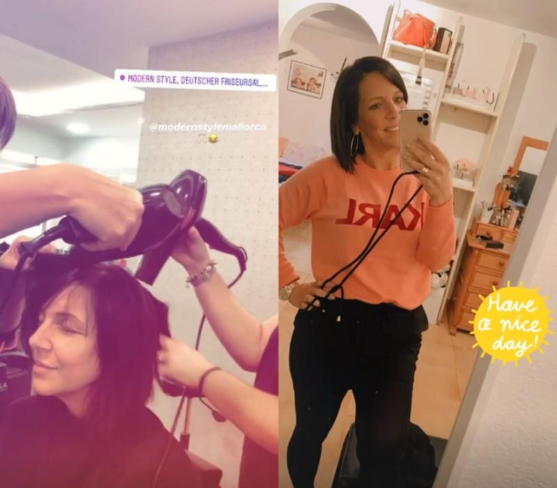 Auf dem Instagram Account von Dani Büchner sieht man das Umstyling und das Ergebnis der neuen Frisur