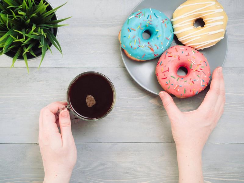 Leckere Donuts sind leider keine veganen Süßigkeiten