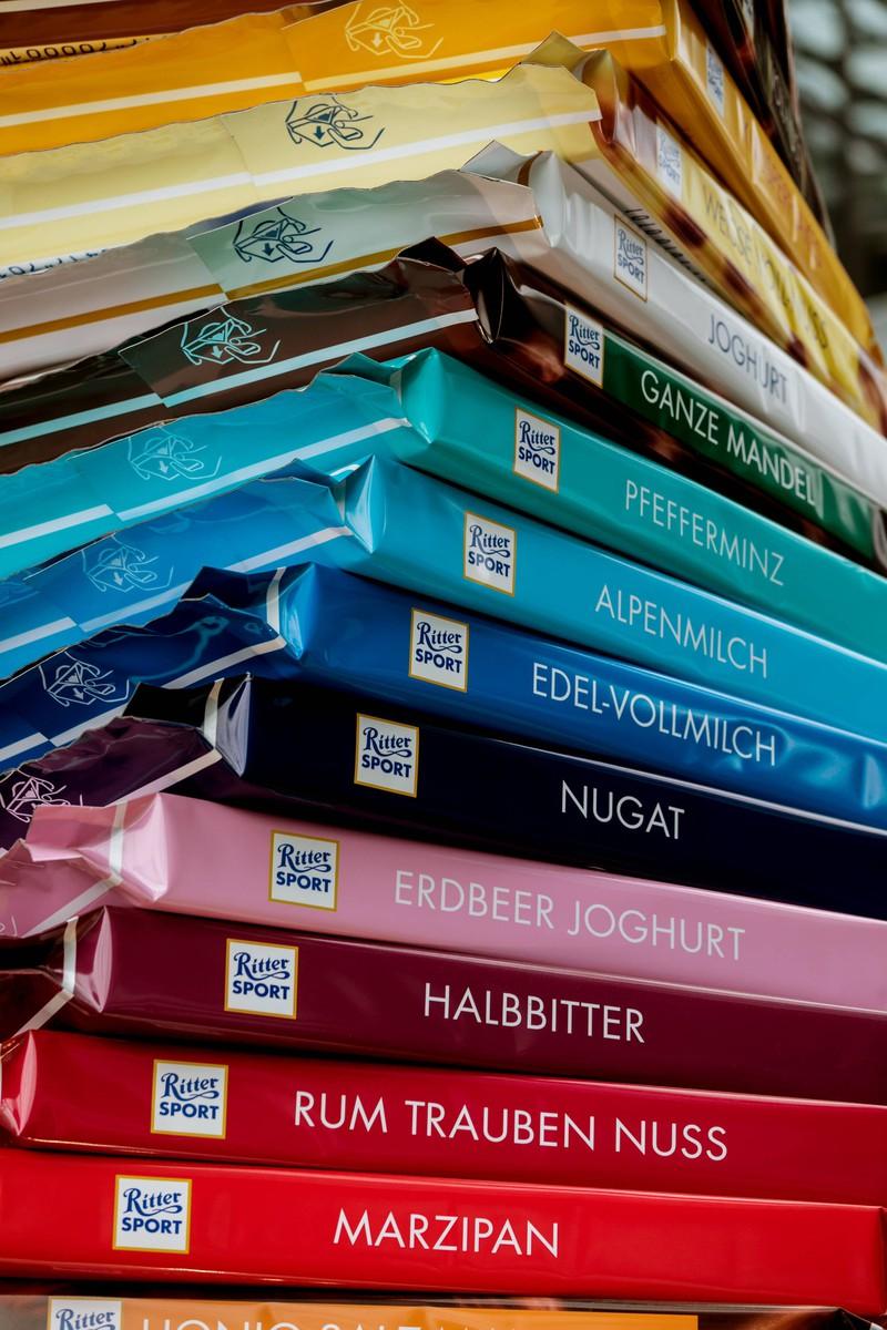 Ritter Sport Marzipan gehört nicht zu 100 Prozent veganer Schokolade