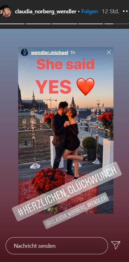 Ex Claudia Norberg gratuliert Laura Müller und dem Wendler auf Instagram  zu ihrer Verlobung