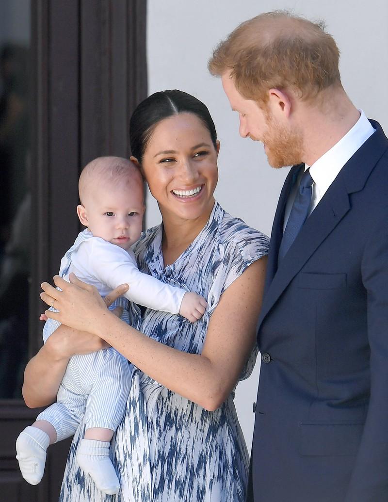 Prinz Harry mit seiner jungen Familie.
