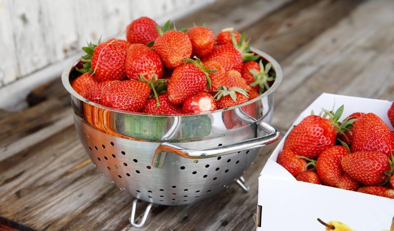 Erdbeeren Waschen Salzwasser