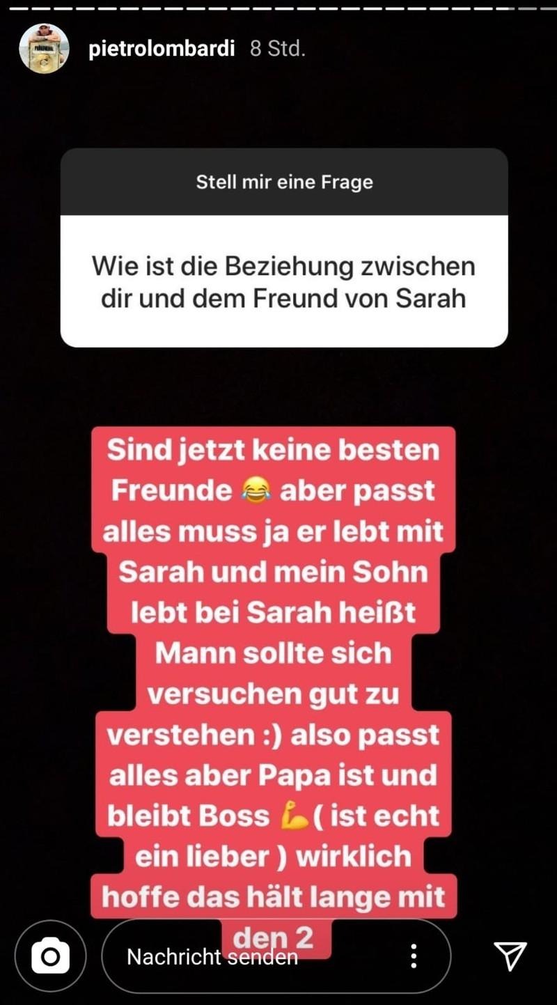 Auf Instagram schreibt Pietro Lombardi, wie er sich mit Julian Büscher versteht