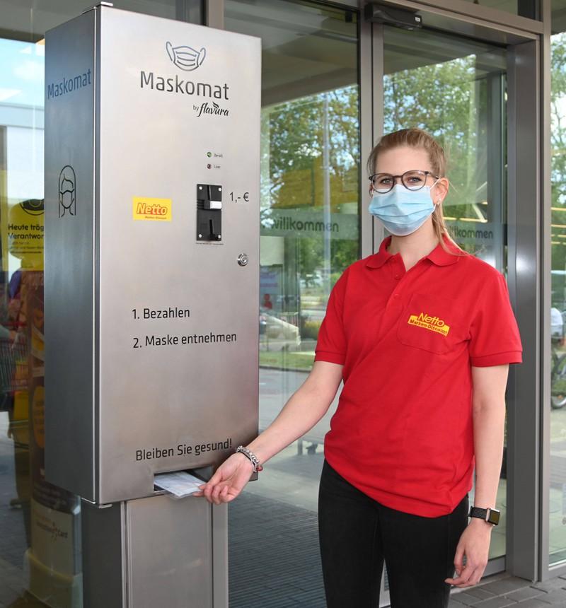 Wie bei diesem Maskomat ist es wichtig, dass die Maske beim Transport luftdicht verpackt ist.
