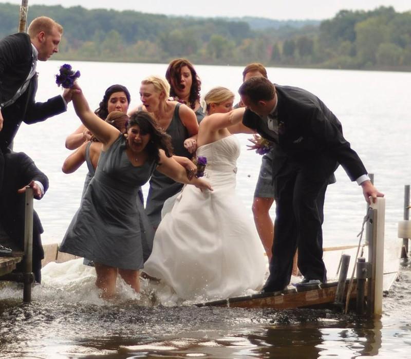 Die Hochzeit ist ins Wasser gefallen