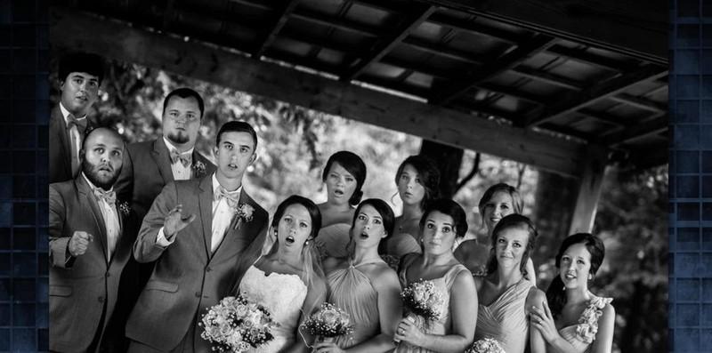 So sieht also eine sprachlose Hochzeitsgesellschaft aus.