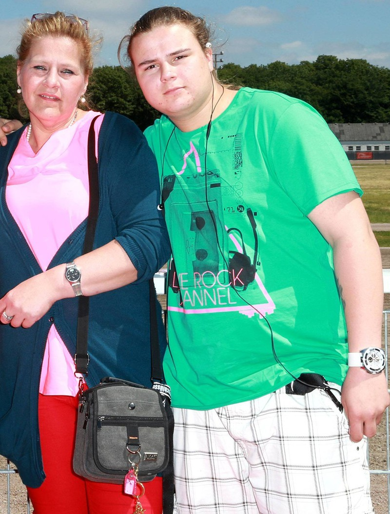 Jeremy-Pascal Wollny mit seiner Mutter Silvia im Jahr 2013: Heute haben sie keinen Kontakt mehr