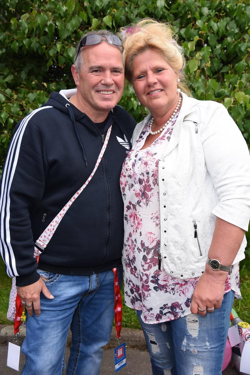 Ein Foto von Silvia Wollny und ihrem Freund und Lebenspartner