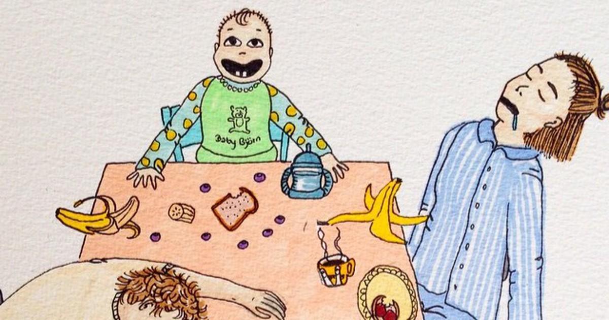 Künstlerin zeigt, wie das Leben mit Kindern wirklich ist